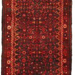 Hand-knotted Malayer Red Wool Rug 3'8″ x 13'5″
