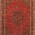 Hand-knotted Mashad Red Wool Rug 9'3″ x 12'6″