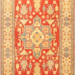 "Hand-knotted Finest Gazni Orange Wool Rug 6'10"" x 9'10"" (1)"