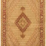 Hand-knotted Pako Persian 18/20 Cream, Light Burgundy Wool Rug 5'8″ x 8'3″
