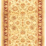 Hand-knotted Pako Persian 18/20 Yellow Wool Rug 2'7″ x 8'6″