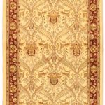 Hand-knotted Pako Persian 18/20 Cream, Light Burgundy Wool Rug 2'7″ x 10'2″