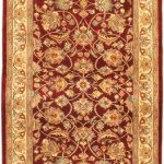 Hand-knotted Pako Persian 18/20 Cream, Light Burgundy Wool Rug 2'8″ x 11'3″