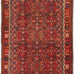 Hand-knotted Hosseinabad Red Wool Rug 3'7″ x 13'2″