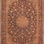 Hand-knotted Isfahan Red Wool Rug 9'4″ x 13'2″