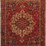 Hand-knotted Bakhtiar Light Burgundy, Red Wool Rug 10'2″ x 12'4″
