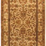 Hand-knotted Mirzapur Cream Wool Rug 2'7″ x 10'4″