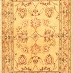 Hand-knotted Chobi Finest Beige Wool Rug 5'0″ x 6'9″