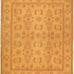 Hand woven Shiravan Sumak Light Khaki Wool Sumak 8'2″ x 9'8″