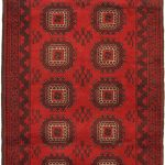 Hand-knotted Khal Mohammadi Red Wool Rug 3'6″ x 6'5″