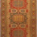 Hand-knotted Nomadic Tribal Brown Wool Sumak 8'0″ x 12'3″