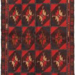 Hand-knotted Serapi Red Wool Rug 3'6″ x 6'4″