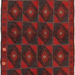 Hand-knotted Herati Red Wool Rug 3'6″ x 6'4″ (1)
