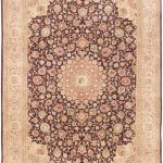 Hand-knotted Sino Persian 220L Pink Wool Rug 8'6″ x 11'6″