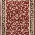 Hand-knotted Sino Persian 220L Navy, Red Wool Rug 8'9″ x 11'9″
