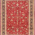 Hand-knotted Royal Kashan Red Wool Rug 9'0″ x 12'3″