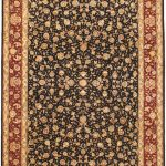Hand-knotted Sino Persian 220L Dark Red, Navy Wool Rug 9'0″ x 12'0″