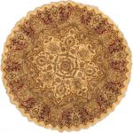 Hand-knotted Jamshidpour Beige Wool Rug 10'0″ x 10'1″
