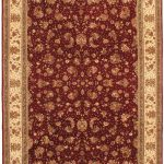 Hand-knotted Sino Persian 220L Red Wool Rug 8'9″ x 11'9″