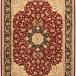 Hand-knotted Sino Persian 220L Red Wool Rug 9'0″ x 12'0″ (1)