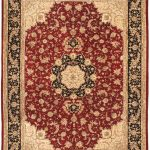 Hand-knotted Sino Persian 220L Black, Light Burgundy Wool Rug 9'0″ x 12'0″