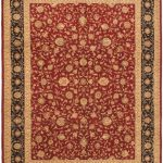Hand-knotted Sino Persian 220L Red Wool Rug 9'0″ x 12'0″ (2)