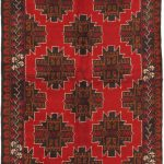 Hand-knotted Kazak Red Wool Rug 3'7″ x 6'3″ (1)