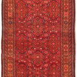 Hand-knotted Persian Vogue Light Brown, Red Wool Rug 3'4″ x 10'2″