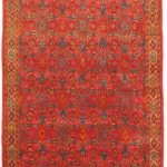 Hand-knotted Persian Vogue Light Brown, Red Wool Rug 3'3″ x 9'5″