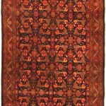 Hand-knotted Persian Vogue Red Wool Rug 5'0″ x 10'5″