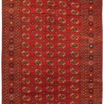 Hand-knotted Shiravan Bokhara Red Wool Rug 7'0″ x 13'7″