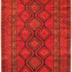 Hand-knotted Persian Vogue Red Wool Rug 4'7″ x 9'9″