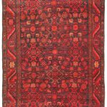 Hand-knotted Persian Vogue Red Wool Rug 3'8″ x 9'11""