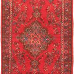 Hand-knotted Persian Vogue Light Navy, Red Wool Rug 3'2″ x 8'6″