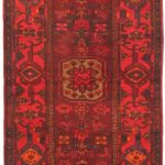 Hand-knotted Persian Vogue Light Navy, Red Wool Rug 3'3″ x 10'6″