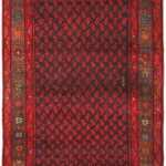 Hand-knotted Persian Vogue Dark Navy, Red Wool Rug 3'8″ x 10'0″