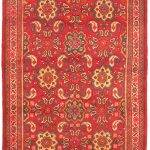 "Hand-knotted Persian Vogue Pink Wool Rug 3'10"" x 10'0″"