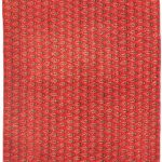 Hand-knotted Persian Vogue Red Wool Rug 3'1″ x 9'11""