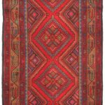 Hand-knotted Persian Vogue Light Brown, Red Wool Rug 3'3″ x 9'10""