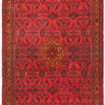 Hand-knotted Persian Vogue Dark Gold, Red Wool Rug 3'5″ x 8'11""