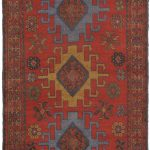 Hand-knotted Persian Vogue Brown, Red Wool Rug 3'7″ x 5'11""