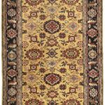 Hand-knotted Persian Vogue Brown Wool Rug 4'2″ x 5'10""