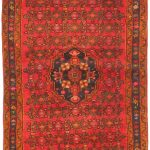 Hand-knotted Persian Vogue Red Wool Rug 3'4″ x 9'3″
