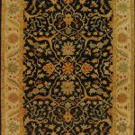 Handmade Antiquities ECGSAT014B Black Wool Rug 2'3″ x 4'0″
