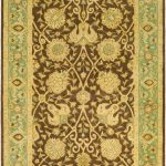 Handmade Antiquities ECGSAT021G Green Wool Rug 2'3″ x 12'0″