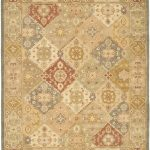 Handmade Antiquities ECGSAT0316A Beige, Multi Wool Rug 7'6″ x 9'6″