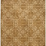 Handmade Antiquities ECGSAT0411A Beige, Gold Wool Rug 2'0″ x 3'0″