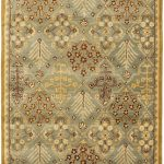 Handmade Antiquities ECGSAT0613A Gold, Light Blue Wool Rug 4'0″ x 6'0″