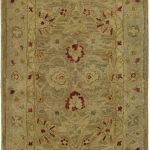 Handmade Antiquities ECGSAT0822B Beige, Brown Wool Rug 2'3″ x 8'0″