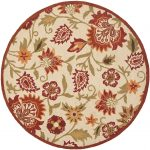 Hand hooked Blossom ECGSBL0M862A Beige, Multi Wool Rug 6'0″ x 6'0″